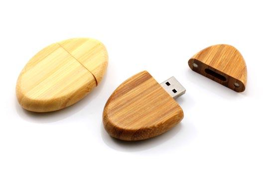 EngravedBamboo USB Flash Drive with Encryption Memory Stick Pro Duo