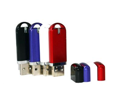 Mini Plastic USB Flash Hard Drive / OTG USB Driver With Keyring