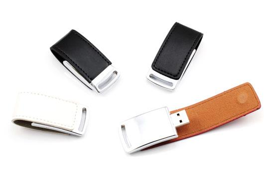 USB 2.0 Leather USB Flash Drive / USB Storage Device Shock Resistance
