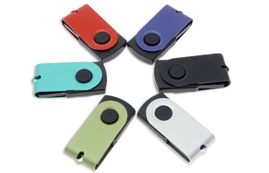 Small Twist USB Sticks , Short Swivel USB Flash Drive with Encryption