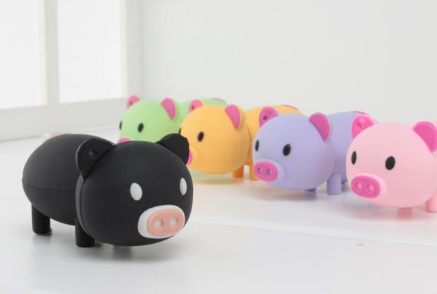 Pink Piggy Custom USB Memory Stick / USB Flash Drives Embossed