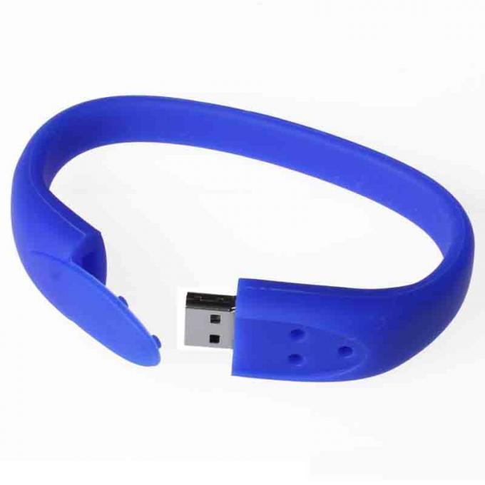 Micro Silicone 8 Gigabyte Flash Drive Wristband , USB Key Bracelet