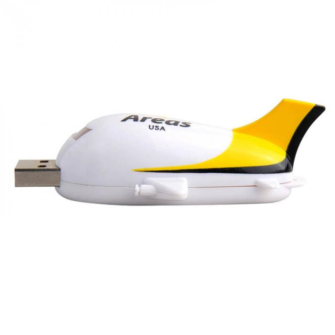 Customized USB Thumb Drives Compatible Windows 98 Airplane Shaped