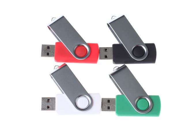 Personalised 16GB Plastic USB Flash Drive , Swivel USB Pendrive