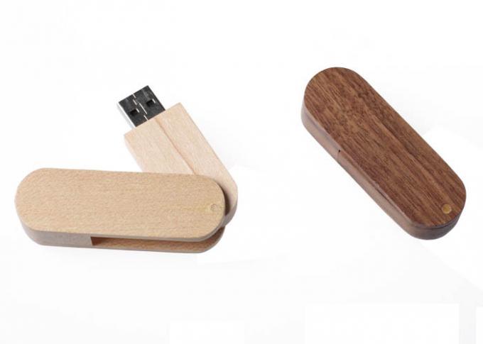 Swivel Maple USB Flash Thumb Drive Engraved Personalized Jump Drives