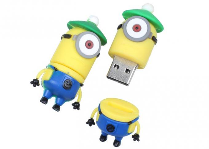 Personalized PVC Flash Hard Drive Comfortable Gel Silicon Soft Feel