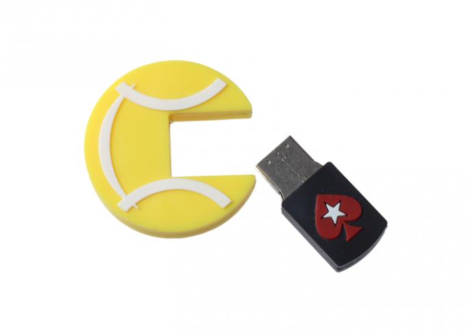 Custom PVC USB Memory Stick Usb Storage Device with Lovely Round Shaped Promotion