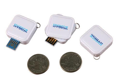 360 Degree 3.0 Plastic USB Flash Drive square with epoxy logo