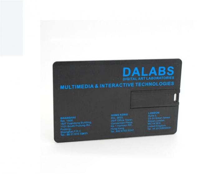 Print Black Credit Card Shape promotional usb drives Logo Custom