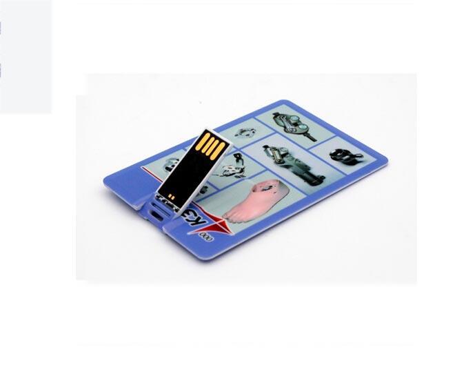 Popular Plastic Paper Clip Cartoon Credit Card USB Drive Logo Customized