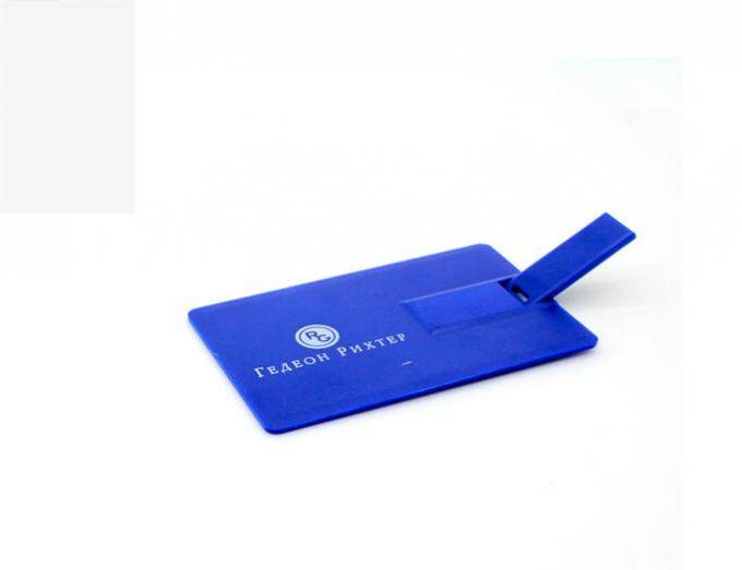 2gb 4gb 8gb 16gb Blue Credit Card USB Drive / Flash Stick For Electronic Gifts