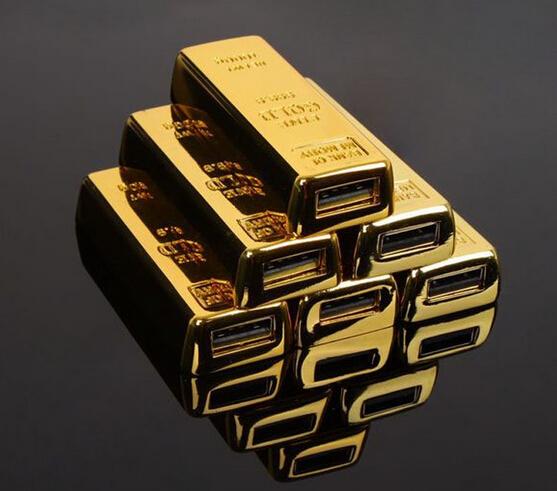 Fashion bullion gold bar USB Flash Drive Pen Drive Flash Memory Stick Drives  pendrive
