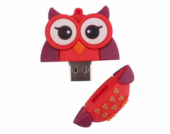 Special Design usb flash drive 64gb pendrive 16gb u disk 4gb High Speed Fox Usb 2.0 flash card cartoon