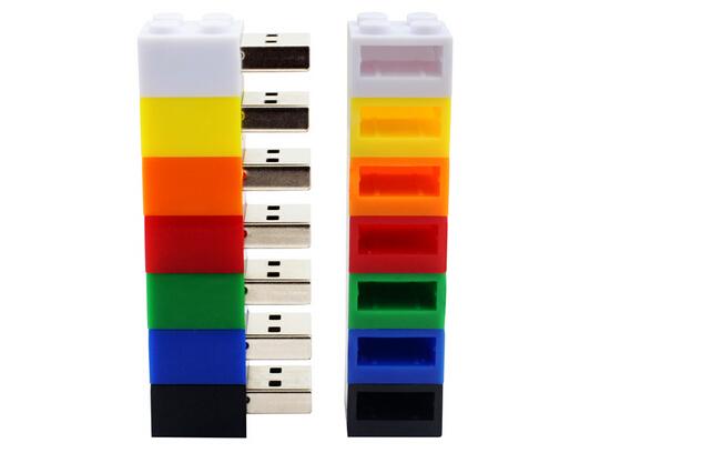 64GB Gift Pen Drive Plastic USB Flash Drive USB Stick Brick Flash Drive
