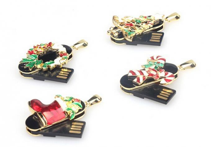 Christmas Mini 8GB 16GB 32GB 64GB  Metal USB Flash Drive For PC