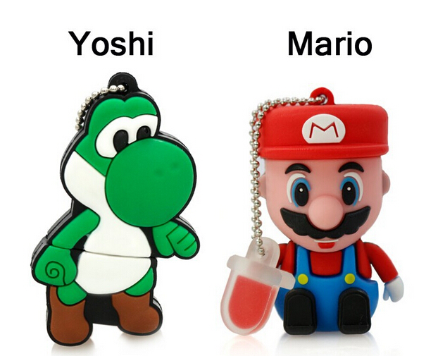 Mario USB Flash Drive cartoon cool yoshi 4G Mario Dinosaur shaped 64G memory stick