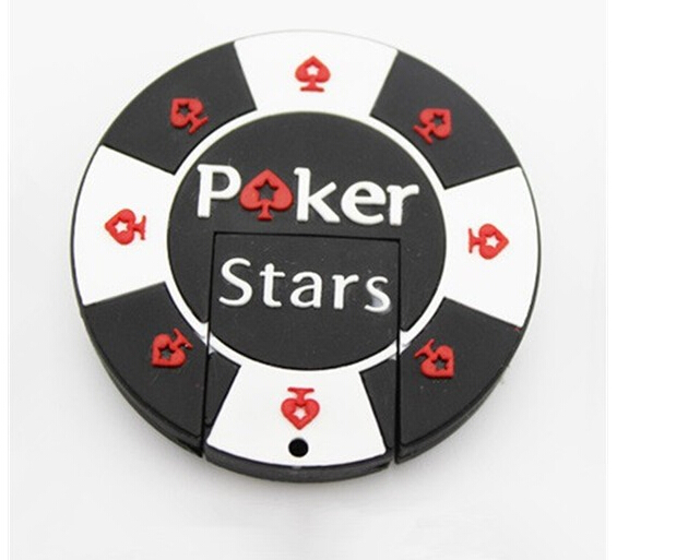 Black poker star USB flash drive 4GB USB Flash 2.0 Memory Creative Pendrives