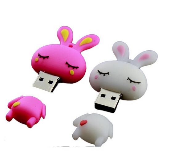 Cartoon Silicone Rabbit Plastic USB Flash Drive USB Stick SGS