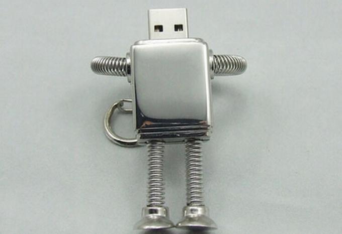 2.0 Robot Metal Usb Flash Drive , 128GB 512GB 4GB 64GB Creativo Usb Pendrive