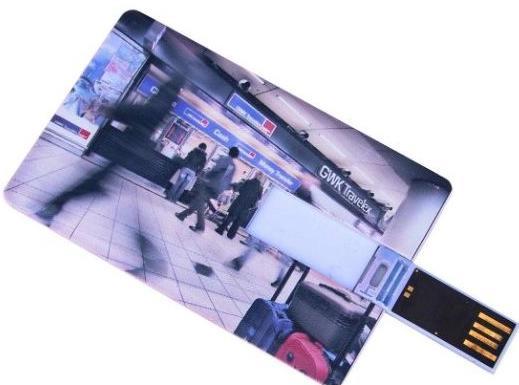 Large area Custom-made Full Color Plastic Credit Card USB Flasth Drive