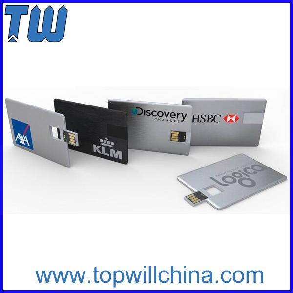 Large area Custom-made Full Color Metal Credit Card USB Flasth Drive