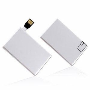 White Pendrive Credit Card USB Drive Waterproof with Encryption