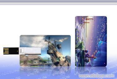 Plastic USB Credit Card Flash Drive / Credit Card USB Storage Device