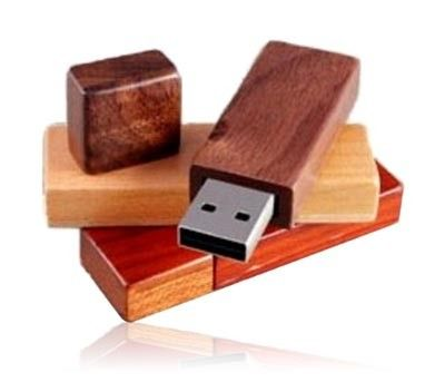 Custom Printed Red Wood USB Flash Drive Keychain With Password Protect