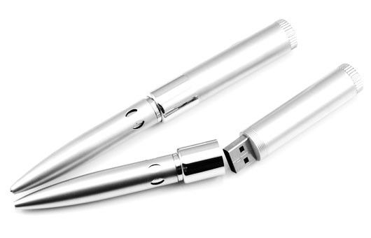 Portable Metallic Pen USB Flash Drive / Personalized Pen Drives 4GB