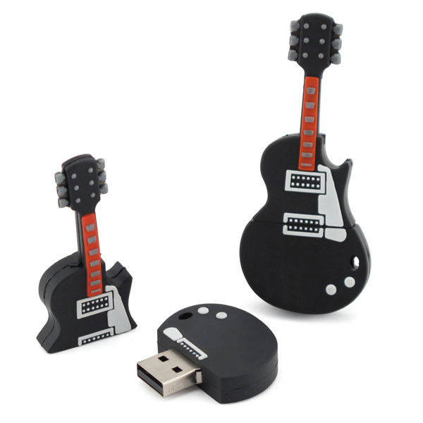 Black 16 Gig Guitar Custom USB Memory Stick USB 3.0 50 X 20 X 15 mm
