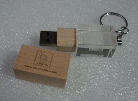 Wooden Engraved USB Flash Drive / USB Keychain Flash Drive Waterproof