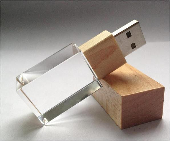 Crystal Thumb Drive Usb Flash Memory Drive Silk Imprint  Laser Engrave