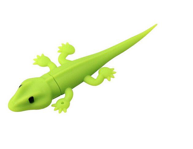 Cartoon USB Flash Drive Green Custom USB Memory Stick Gecko Shape