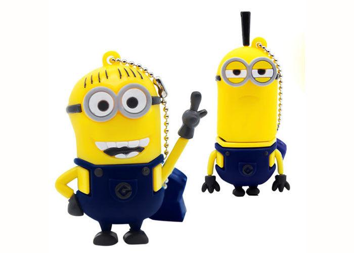 Yellow Man Mock up Cartoon Computer Thumb Drive Customizable creative gift