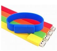 High Capacity Wristband USB Flash Drive / Pen Drive Stick Blue