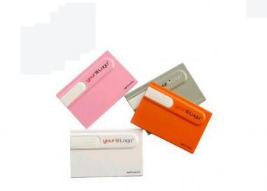 Logo printing credit card shape pen drive / personalized custom printed thumb dr